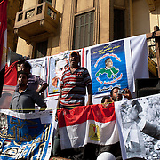A political group of Nasserist Egyptians take part in a larger July 8, 2011 protest in Tahrir Square in downtown Cairo, Egypt.  Protesters from a wide variety of parties have vowed to stay in the square until the demands of the revolution are met, including an end to military trials of civilians, prosecution of police officers accused of murder or torture and open trials of former regime officials including ex-President Hosni Mubarak. (Photo by Scott Nelson/Der Spiegel)