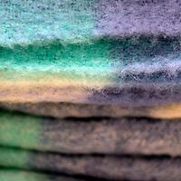 Europe, Ireland, Avoca. Wool Blankets at Avoca Handweavers Mill, County Wicklow.