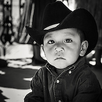 Young cowboy at the town of Creel festiv events of 100 years