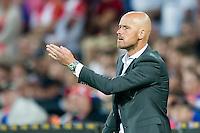 ROTTERDAM - Feyenoord - FC Utrecht , Voetbal , Seizoen 2015/2016 , Eredivisie , Stadion de Kuip , 08-08-2015 , FC Utrecht trainer Erik ten Hag