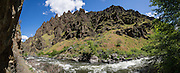 Imnaha River Trail, Hells Canyon National Recreation Area, Wallowa-Whitman National Forest, north of Imnaha village, Oregon, USA. The entire river is designated Wild and Scenic. This panorama was stitched from 8 overlapping photos.