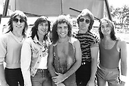 Journey 1981 Ross Valory, Steve Perry, Neal Schon, Jonathan Cain, Steve Smith.© Chris Walter.