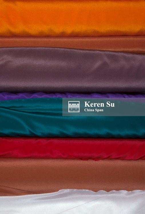 Colorful silk fabrics, China