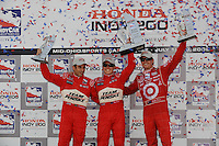 Ryan Briscoe, Helio Castroneves, Scott Dixon,  Honda 200, Mid-Ohio Sports Car Course, Lexington, OH USA  8/9/08