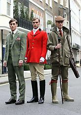 JAN 8 2013 Savile Row presentation at London Menswear Fashion Week A/W 2013