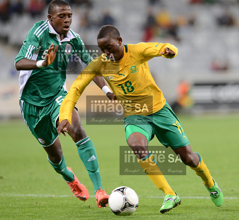 CAPE TOWN, SOUTH AFRICA: Tuesday 29 May 2012, THABANI MTHEMBU of South Africa during the under 20 Cape Town International Soccer Challenge between South Africa and Nigeria at the Cape Town Stadium..Photo by Roger Sedres/ImageSA