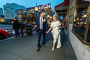 Melanie and Kenneth Kirrene wedding in San Francisco, Friday, January 8, 2016.<br /> Photo Brian Baer