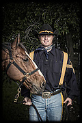 Joshua Reed and Anvil<br /> <br /> 1st Cavalry Division Horse Cavalry Detachment photos by Stacy L. Pearsall
