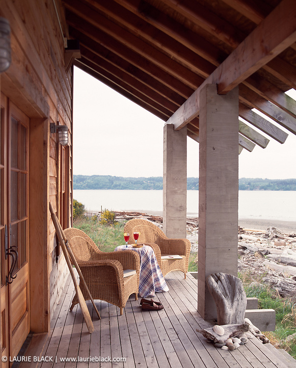 Beach cabin porch