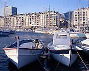 AA00377-01...FRANCE - Port of Marselle, one of the most important yacht harbors in France.