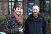 Caroline Lucas, Green Party, Member of Parliament for Brighton, with Derek Wall.