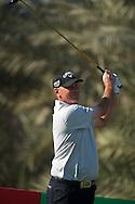 19.01.2013 Abu Dhabi, United Arab Emirates.  Thomas Bjorn in action during the European Tour HSBC Golf championship  third round from the Abu Dhabi Golf Club.