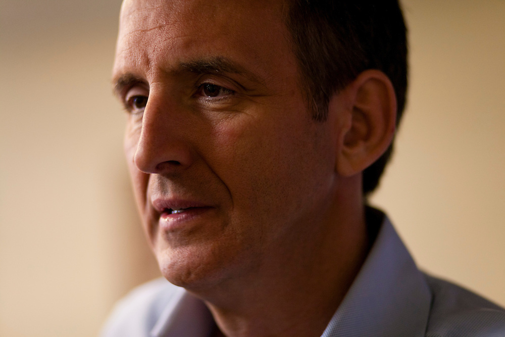 Republican presidential hopeful Tim Pawlenty campaigns on Friday, August 5, 2011 in Mason City, IA.