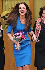 FEB 14 2014 Duchess of Cambridge at Northolt High School