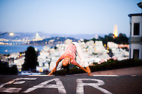 Minhee Cha at the Russian Hills, San Francisco