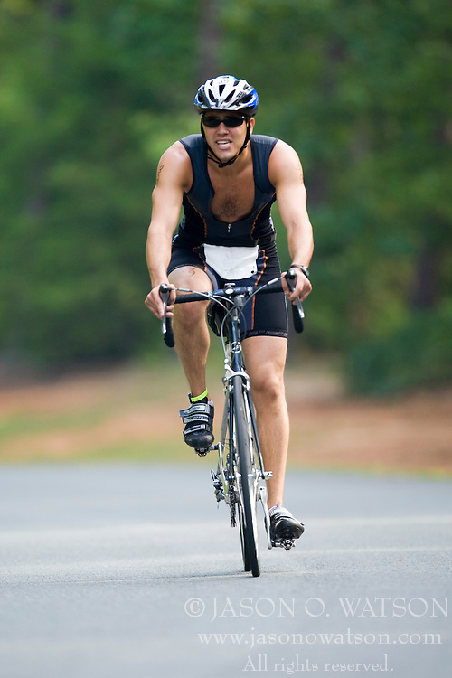 CHARLOTTESVILLE, VA - July 27, 2008 - JEFF COHN in The 2008 Charlottesville International Triathlon was held at Walnut Creek Park in Albemarle County near Charlottesville, Virginia, USA.