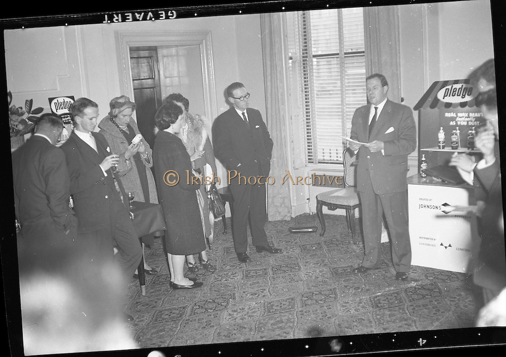 &quot;Pledge&quot; Reception at Shelbourne Hotel.<br /> 20.04.1961