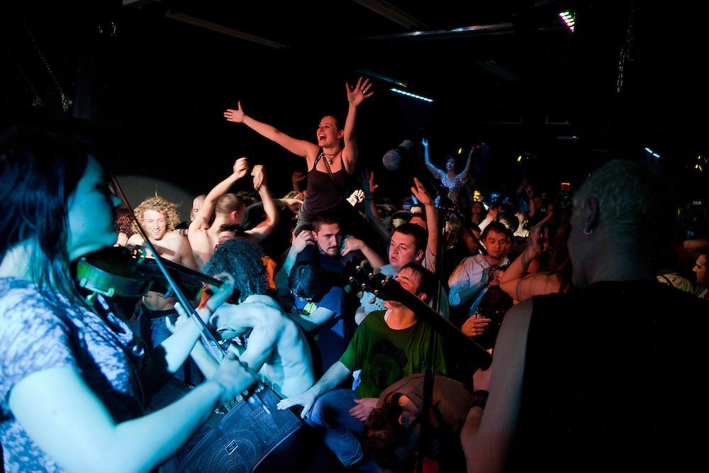 Kultur Shock performing at the DFK Club in Banja Luka...
