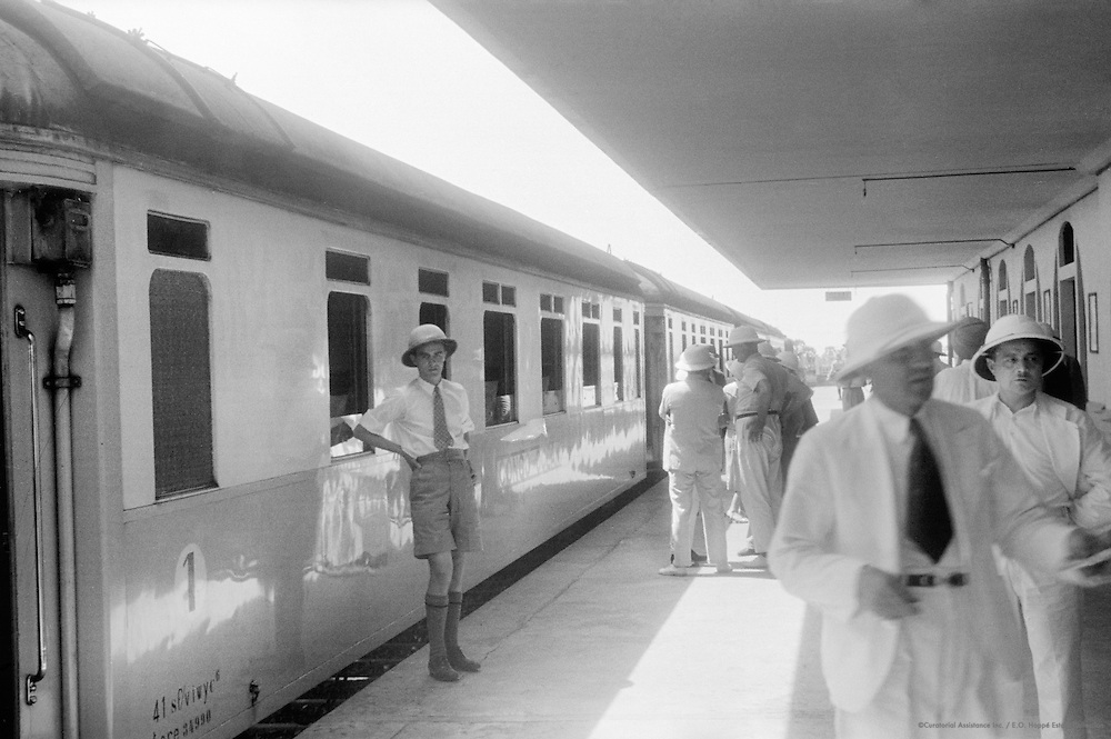 Train Station, Pointe Noir, French Equitorial Africa (now Republic of Congo), Africa, 1937