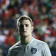 Republic of Ireland Goalkeepers Ian Lawlor (23) seen leaving the field after a Ireland and Costa Rica match Friday. June. 6, 2014 at PPL Park in Chester PA.