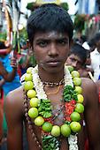 Sri Lanka. The Aadi Vel Hindu Festival in Colombo.