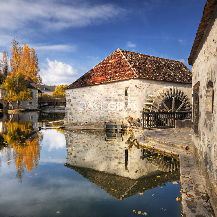 The Mill and the Old House on the River, Moret-Sur-Loing, Seine et Marne, France