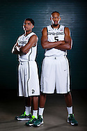 9/19/13 9:27:38 AM -- Lansing, MI, U.S.A  -- Basketball players Adriean Payne and Garry Harris will represent Michigan State as one of our Sports Weekly season preview covers. --    Photo by USA TODAY  Sports Images, Gannett