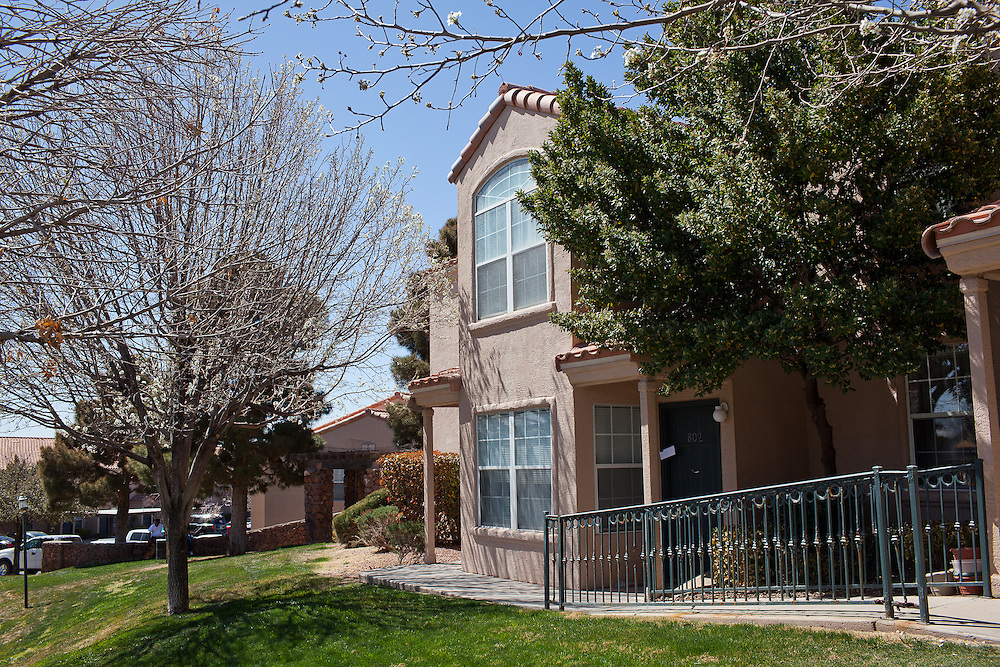 An apartment allegedly used by the gun runners in El Paso, Texas. Recently federal authorities arrested the mayor, police chief, and trustees who were allegedly operating an illegal gun running ring.
