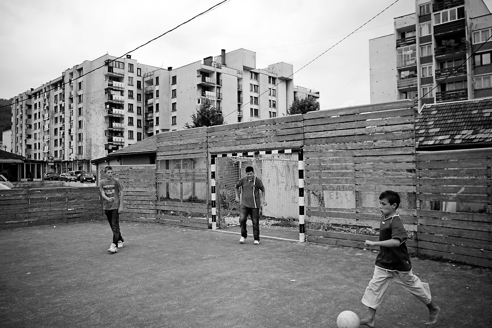BiH, Gorazde, 2009. Children playing football