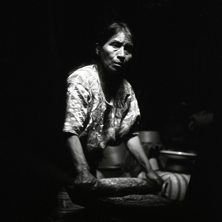 Doña Caterina is a weaver in San Juan Cotzal, Guatemala -- a small town in the country's western highlands.  She is part of a collective of female weavers who were all widowed by civil war from 1960-1996.