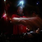 10/23/11 Philadelphia PA: DJ's Mike Justin during TEASE exhibition Sunday, Oct. 23, 2011 at National Mechanics in Philadelphia Pennsylvania...Monsterphoto/SAQUAN STIMPSON