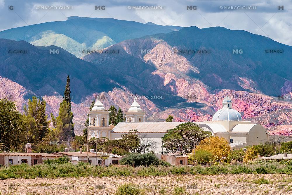 SAN CARLOS, IGLESIA SAN CARLOS BORROMEO, VALLES CALCHAQUIES, PROV. DE SALTA, ARGENTINA