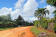 The road near La Maquina, Guantanamo, Guantanamo, Cuba.