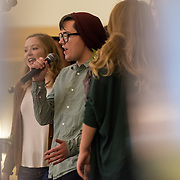 The Big Bing Theory a cappella group performed at the Senior/Junior dance Nov. 6. (Photo by Edward Bell)