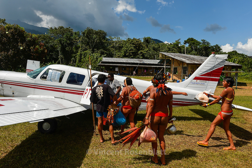 The connection between Yanomami villages and Boa Vista the capital of Roraima is mainly by planes, the 5 seats or 10 seats Caravan. Each flight can coast 1000 usd$. Alternative is days of boat or difficult and long walks trough the forest. The Yanomami land is huge as Portugal.