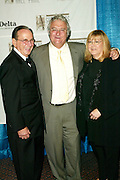 Hal David and Linda Moran  with Inductee Randy Newman at the 33rd Annual Songwriters Hall Of Fame Awards induction ceremony at The Sheraton New York Hotel in New York City. June 13 2002. <br /> Photo: Evan Agostini/PictureGroup