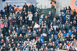 South stand fans.<br /> Falkirk 3 v 1 Queen of the South, Scottish Premiership play-off quarter-final second leg played today at the Falkirk Stadium.