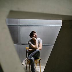 Miha Blasic, Rapper Ntoko photographed in Ljubljana, Slovenia.