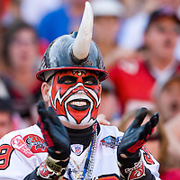 04 november 2007: A Buccaneers fan is seen during the Tampa Bay Buccaneers 17-10 victory against the Arizona Cardinals at the Raymond James Stadium in Tampa, Florida, USA.