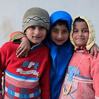 Asia, India, Darjeeling. Three darling children of Darjeeling.