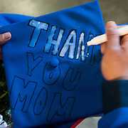 A nod to Mom at the Undergraduate Commencement which is also Mother's Day. (Photo by Gonzaga University)