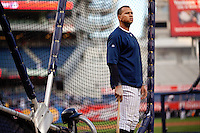 Alex Rodriguez warms up prior to Game 2 of the 2009 World Series between the New York Yankees and The Philadelphia Phillies in Bronx, NY. (Photo by Robert Caplin)..