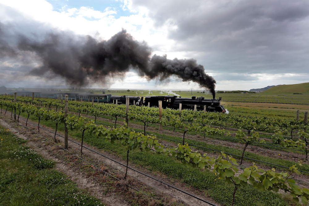 Mainline Steam Heritage Trust's  Ja1240 steam locomotive made its first trip under its own power, and pulling a train on South Island soil in 42 years South of Blenheim, New Zealand, Thursday, October 24, 2013.  Credit:SNPA / Anthony Phelps