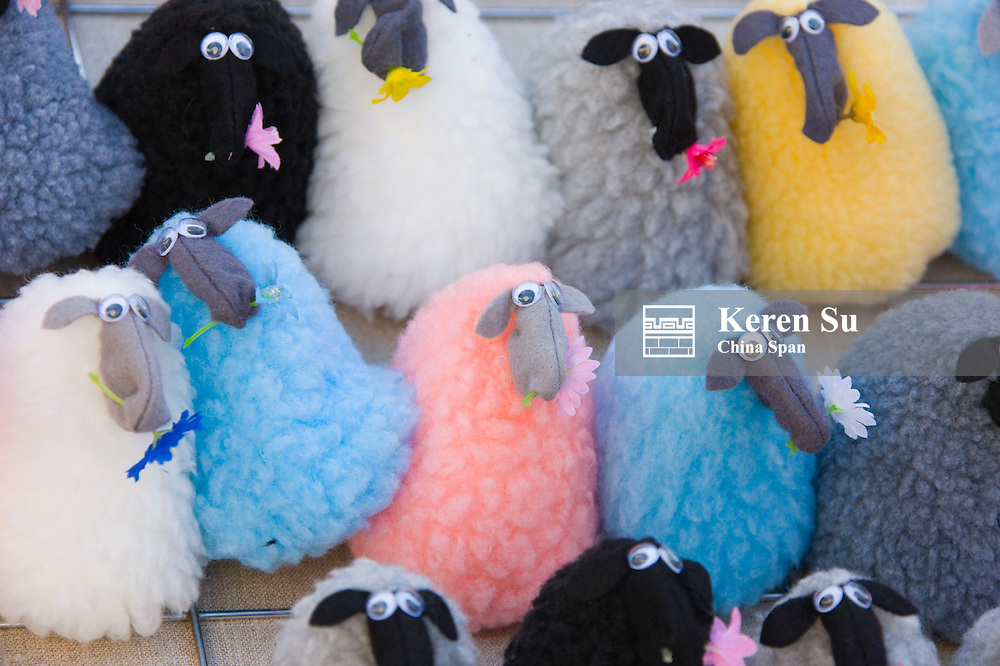 Stuffed toys of sheep, Visby, Gotland Island, Sweden
