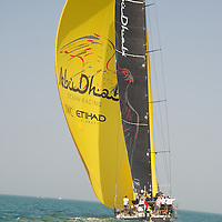 13.01.2012, Abu Dhabi. Volvo Ocean Race, Abu Dhabi Ocean racing boat winner of the in port race
