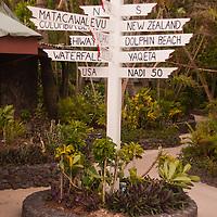 Directional Signpost, Turtle Island, Yasawa Islands, Fiji