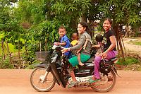 on a moto near Siem Reap, Cambodia