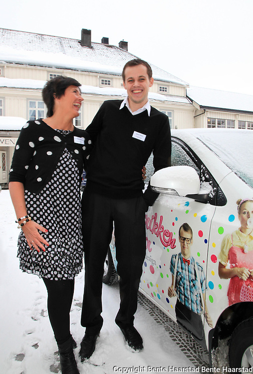 Ann Kristin Sollihaug, kreativ leder, og Daniel Flaamo, gründer og daglig leder, Fonnfjell Design AS. Bedriften, som også kaller seg Idéfabrikken, holder til i Meråker og Stjørdal.