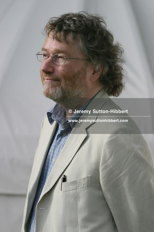 Iain Banks, Scottish author...Photographed at the Edinburgh International Book Festival 2003.