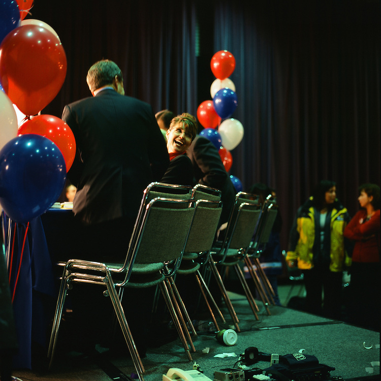 ANCHORAGE, ALASKA - 2006: Sarah Palin on election night.
